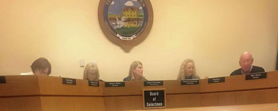 The Board of Selectmen. Taken Dec. 17. Photo: Lynandro Simmons /Hearst Connecticut Media