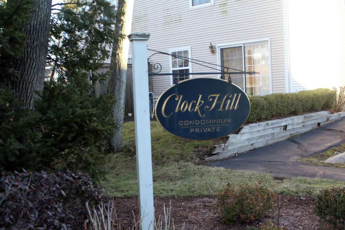 The entrance to Clock Hill Condominium. Taken Dec. 17.