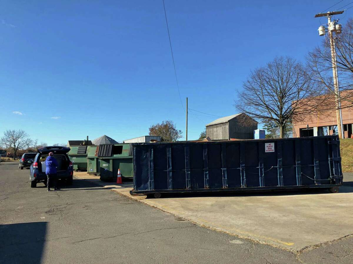 The transfer station, where Fairfield residents dispose of trash and recyclable materials.