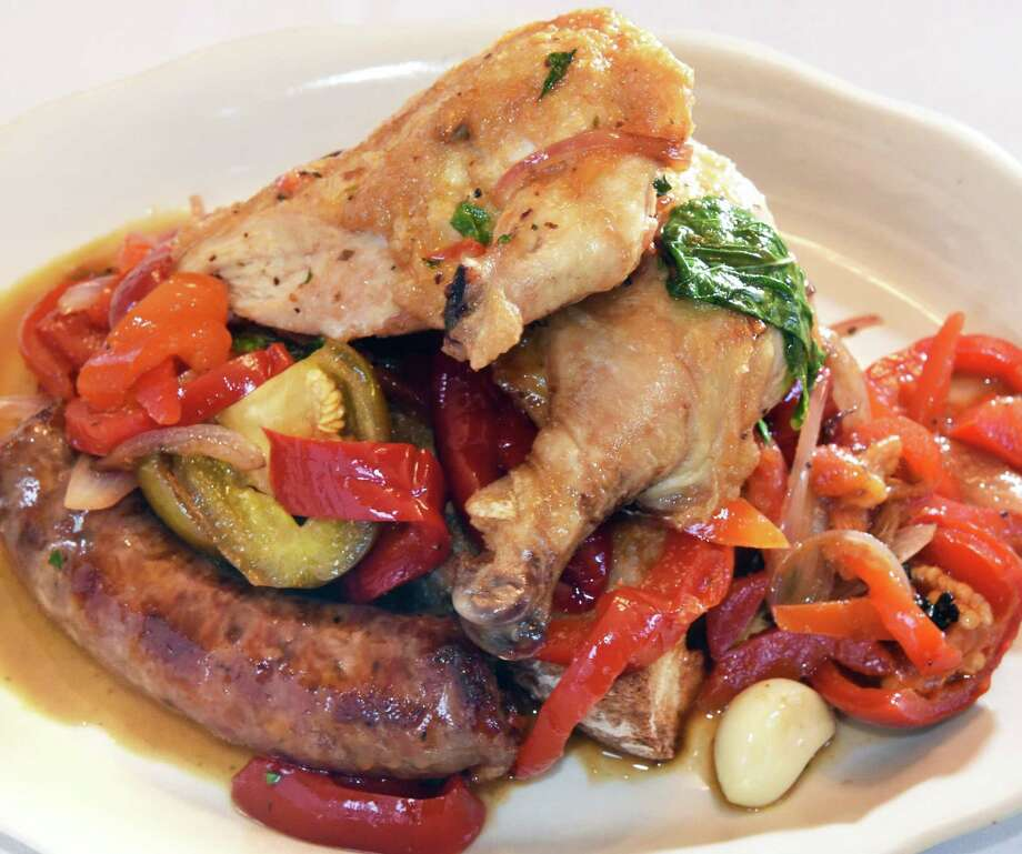 While homemade pasta is well within Solevo Kitchen + Social's wheelhouse, they don't shy away from Italian classics like Chicken Napolitano.  (John Carl D'Annibale/Times Union) Photo: John Carl D'Annibale / 20045650A