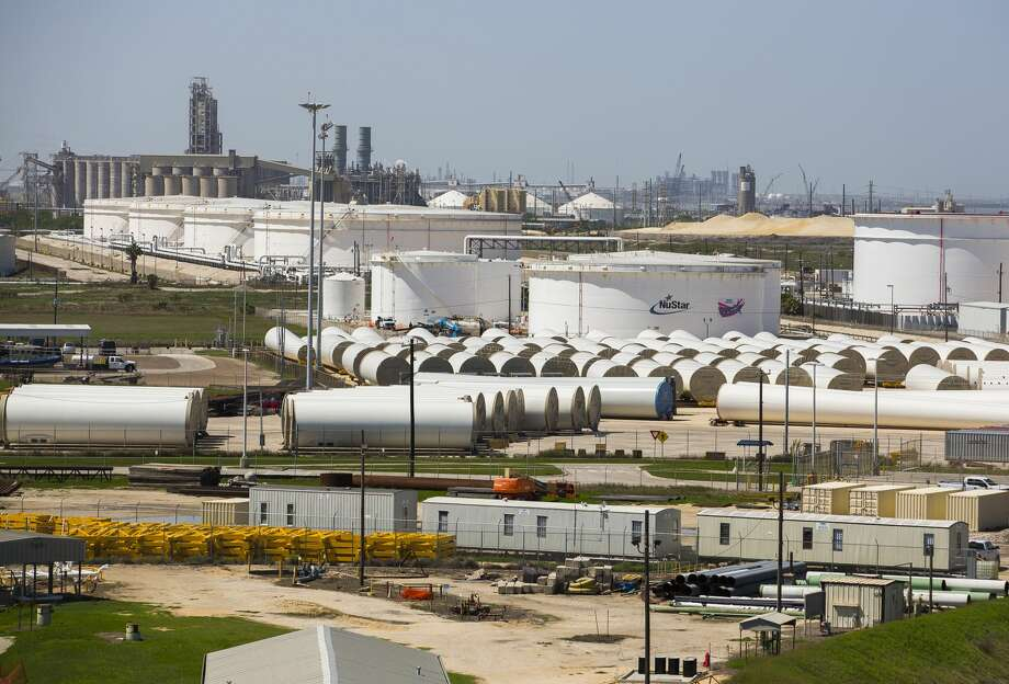 Export facilities along the Texas Gulf Coast, like these storage tanks at the Port of Corpus Christi, could be overwhelmed as new pipelines come online in late 2019 and into 2021 and send crude from the Permian Basin and Eagle Ford gushing to the export market. Photo: Mark Mulligan/Houston Chronicle