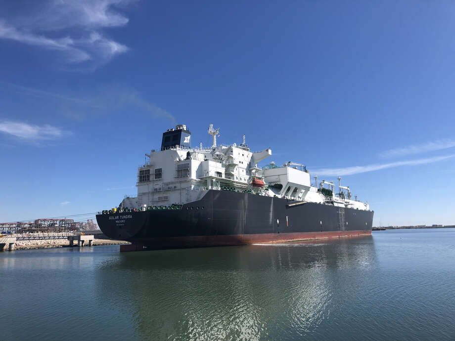 An LNG tanker named the Golar Tundra docked at Cheniere Energy's Corpus Christi LNG as part of the export terminal's Nov. 15 grand opening. The Houston liquefied natural gas company posted a $141 million profit during the first quarter where it was stung by higher operating costs but nonetheless beat Wall Street expectations. NEXT: See recent earnings reports from area energy companies. Photo: Sergio Chapa
