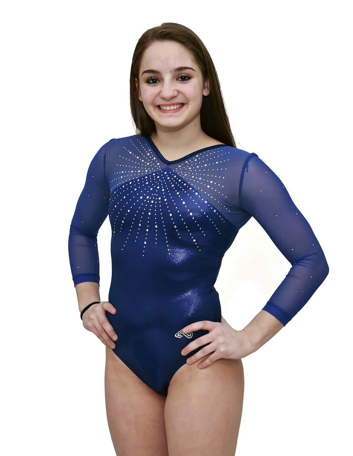 Emily Baktis - Oxford High School All-Area Gymnastics Thursday, March 23, 2017 (Catherine Avalone/New Haven Register)