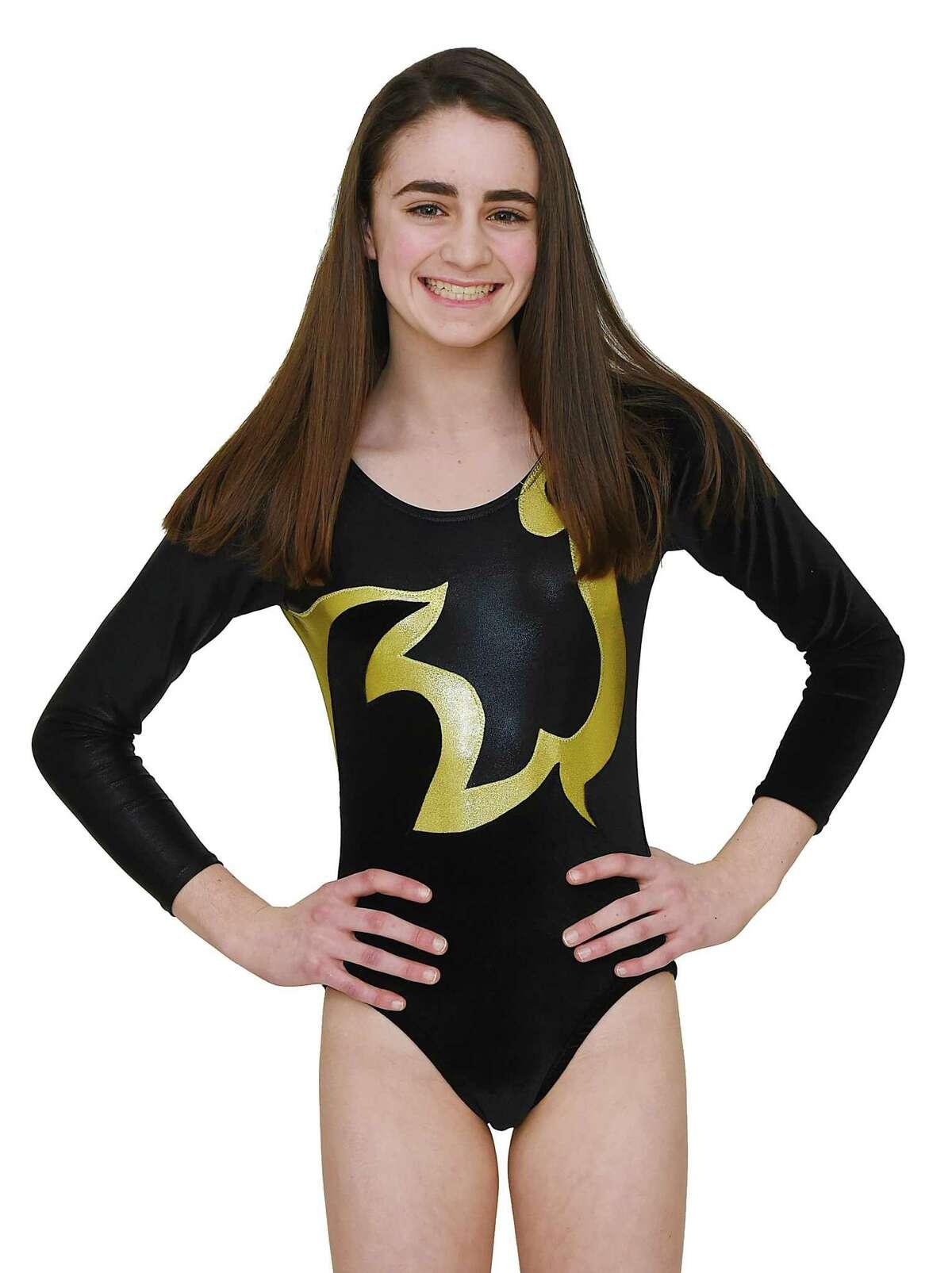 Catherine Burns Jonathan Law High School All-Area Gymnastics March 25, 2018