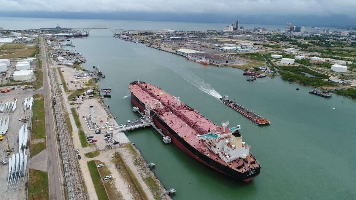 The Port of Corpus Christi has started work on $380 million project to deepen and widen its ship channel to allow for two-way supertanker traffic.