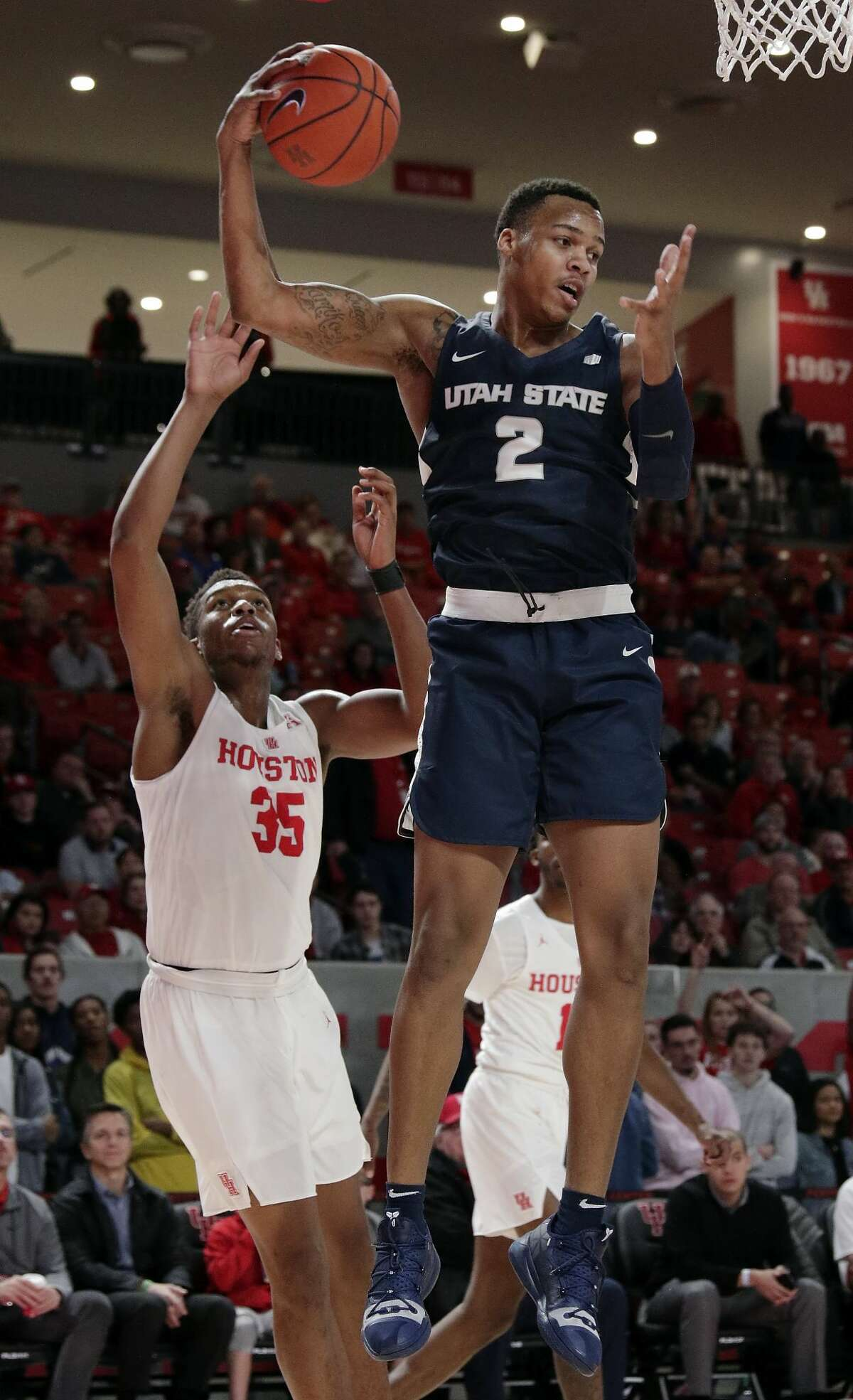 2018-19 REGULAR-SEASON RECAP The Aggies shared the Mountain West regular-season title with Nevada. They split their two games with the Wolfpack, who are a seven seed in the West region. Other notable results from USU's season: Lost by 10 to Houston (No. 3 seed in tournament) on Dec. 20, Beat St. Mary's (No. 11 seed) on Nov. 19, Lost to Arizona State (Play-in No. 11 seed) by five on Nov. 20.