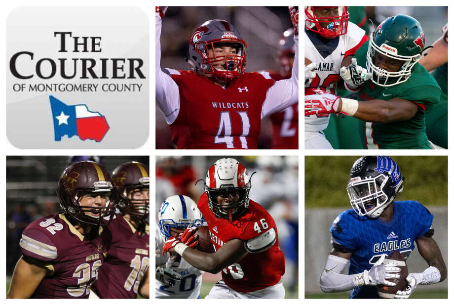 Kyle Weber (Splendora), Austin Winfield (The Woodlands), John Andrews (Magnolia West), Zhyon Bell (Porter) and Jaylen Neal (New Caney) are The Courier's nominees for Defensive MVP. Photo: Staff Photos
