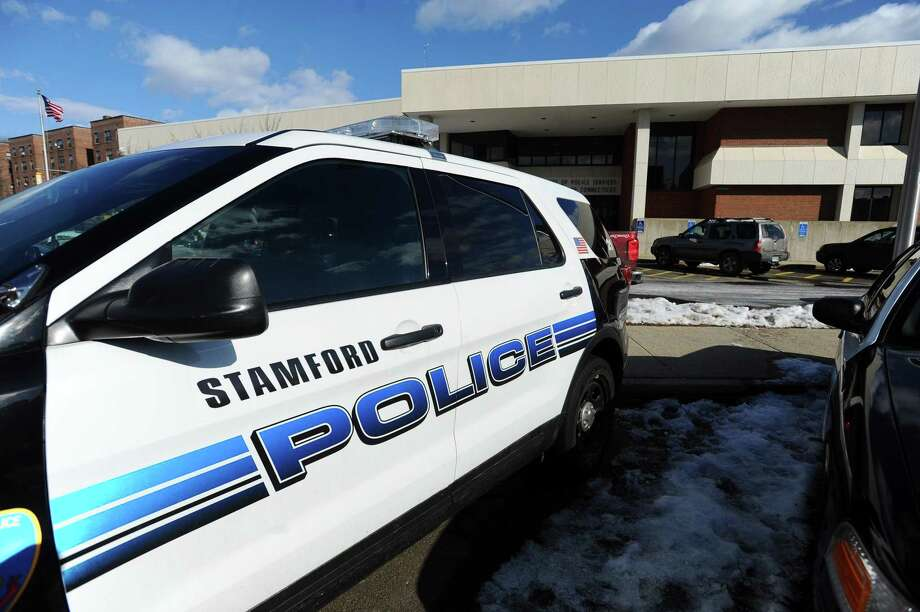 Stamford police cars in Stamford, Conn.  Photo: Michael Cummo / Hearst Connecticut Media / Stamford Advocate