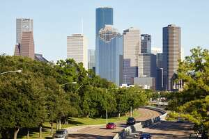 Houston city skyline, Houston, USA. (Photo by: Loop Images/UIG via Getty Images)