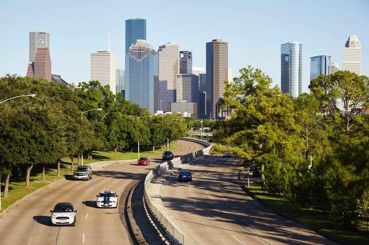 Houston city skyline, Houston, USA. (Photo by: Loop Images/UIG via Getty Images)