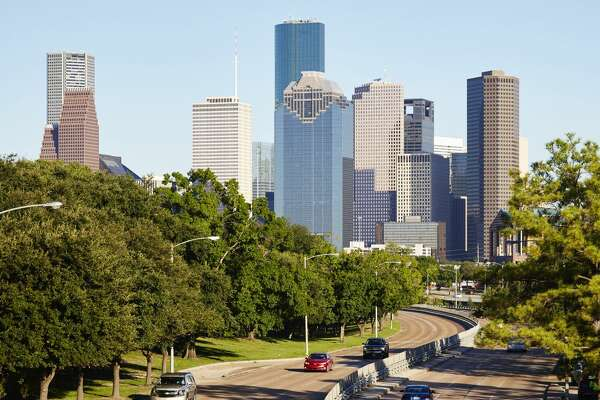 Houston city skyline, Houston, USA. (Photo by: Loop Images/UIG via Getty Images) 6.2.5