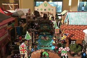 For 2018, the JW Marriott San Antonio Hill Country Resort & Spa has a giant gingerbread display that features a tasty, creative interpretation of the the River Walk.