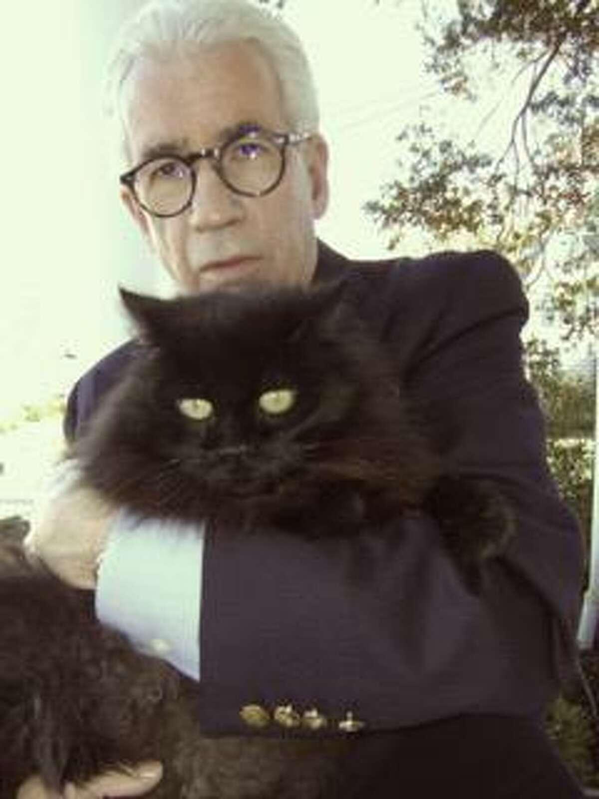 Joe Saunders and his cat, Boo.