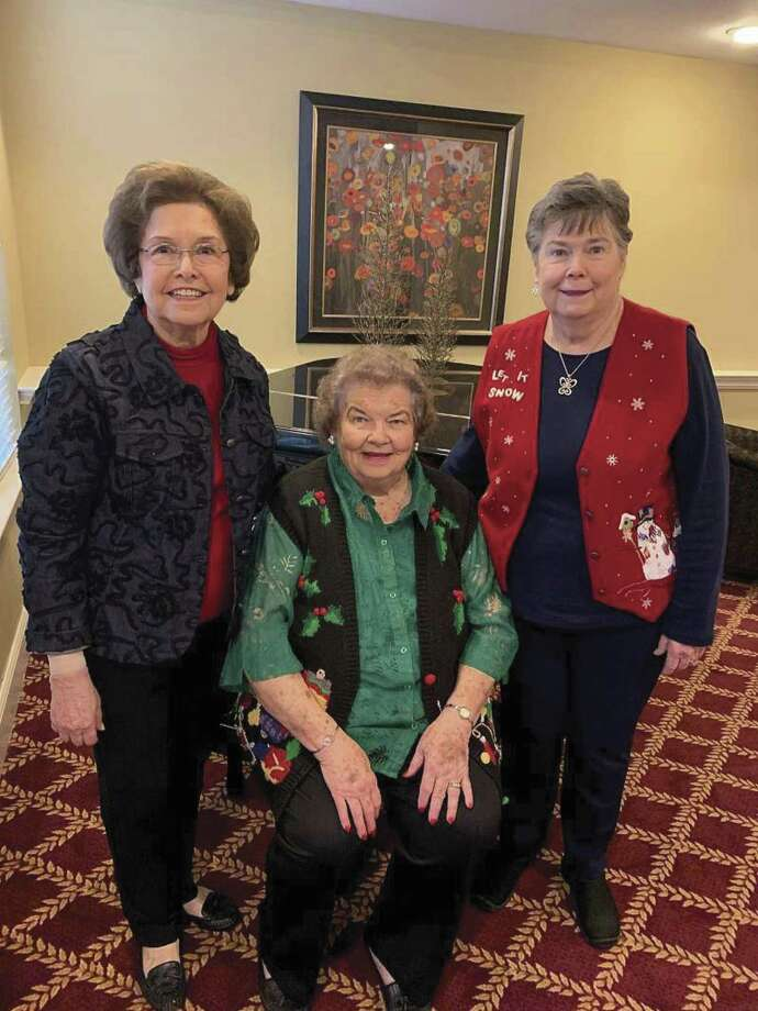 The Welcoming Committee at The Abbey at Westminster consists of, from left, Jackie Cabra, Janette Bowers, Judy Tenney.