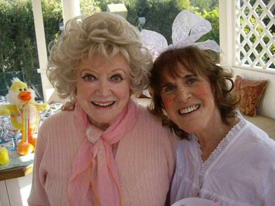Ruth Buzzi and Phyllis Diller at a 2001 party for tMargie Peterson, who been undergoing chemo and needed a little fun and happiness. Most of the people there, Debby Reynolds, Margie, Phyllis, the host Paula Kent Meekham, founder of Redkin cosmetics, are all gone now, Buzzi laments. Photo: Contributed Photo