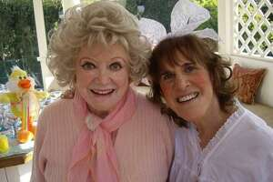 Ruth Buzzi and Phyllis Diller at a 2001 party for tMargie Peterson, who been undergoing chemo and needed a little fun and happiness. Most of the people there, Debby Reynolds, Margie, Phyllis, the host Paula Kent Meekham, founder of Redkin cosmetics, are all gone now, Buzzi laments.