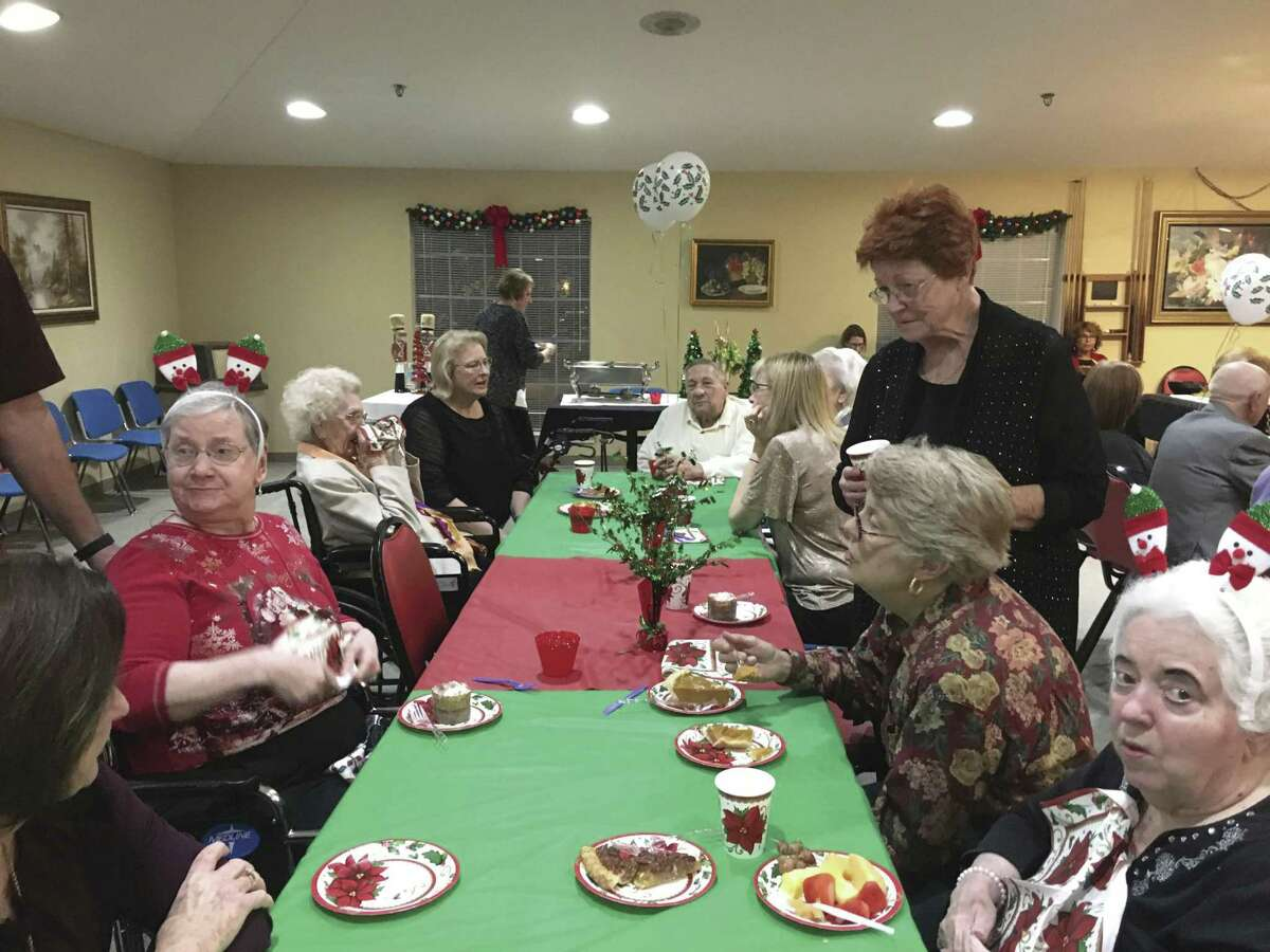 Holiday events are enjoyed by residents and family members.