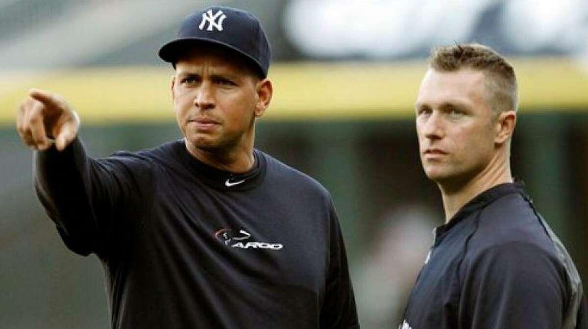 Major League Baseball player Alex Rodriguez with Dana Cavalea.