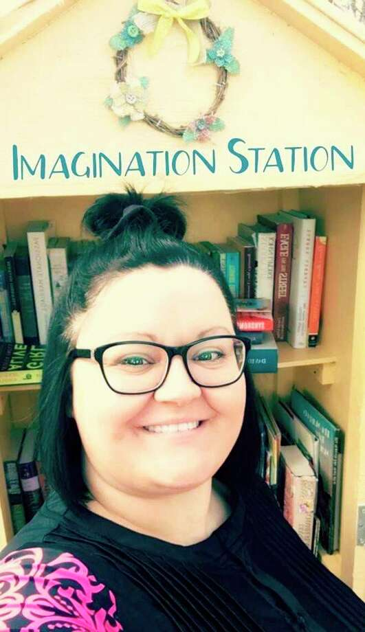 Rebecca Booms, who brought the free library Imagination Station to Harbor Beach, is branching out to schools. She will be doing readings to area elementary classes and giving away copies of the books she reads to students. (Courtesy Photo)
