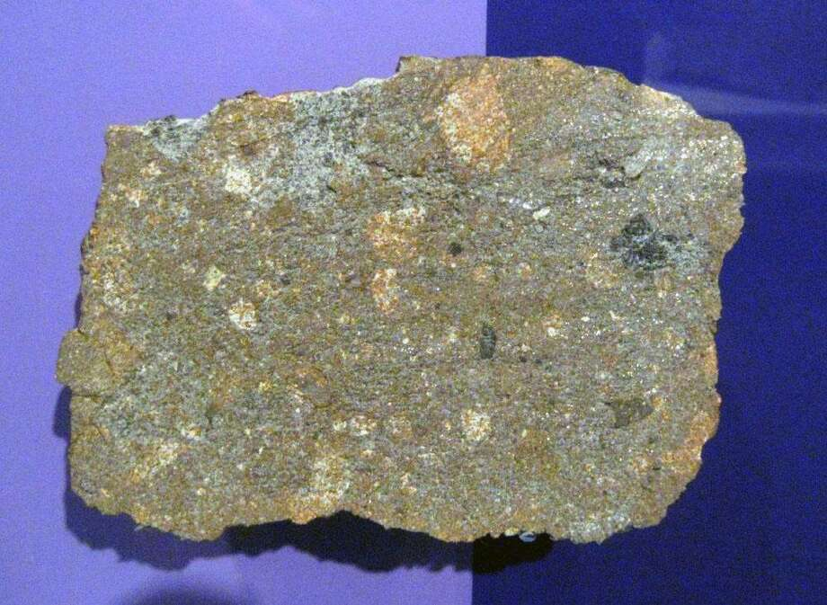 A piece of the Weston Meteorite on display at the Smithsonian National Museum of Natural History Photo: Contributed Photo
