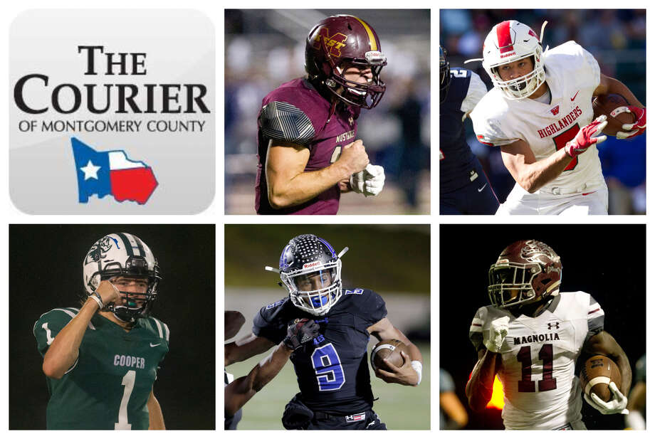 John Matocha (Magnolia West), Bryeton Gilford (The Woodlands), Evan Minarovic (John Cooper), Zion Childress (New Caney) and Darren Battle (Magnolia) are The Courier's nominees for Offensive MVP. Photo: Staff Photos