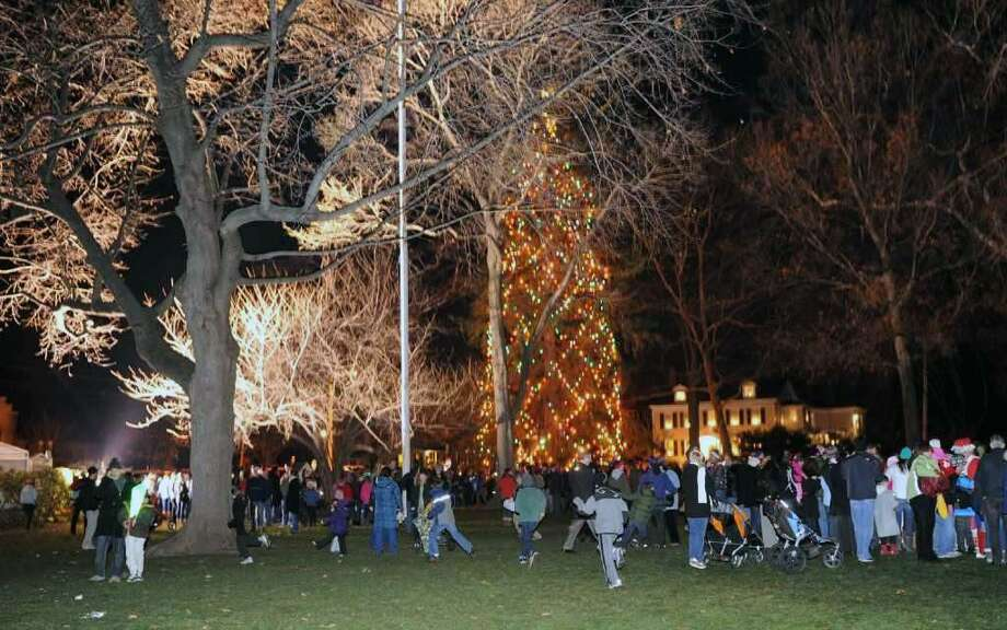Highlights from the 2010 Tree Lighting Ceremony which was held at Town Hall Green in Fairfield. Photo: Hearst Connecticut Media File Photo /