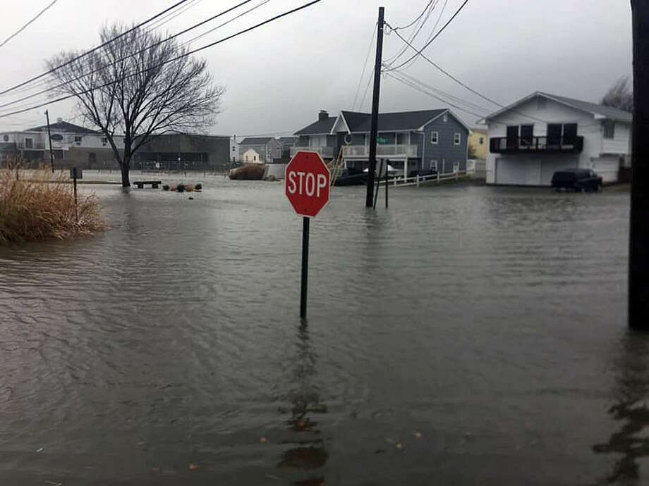Officials provided photos of flooded roadways in Stratford, Conn., on Dec. 21, 2018. Photo: Contributed Photo / Contributed Photo / Connecticut Post Contributed
