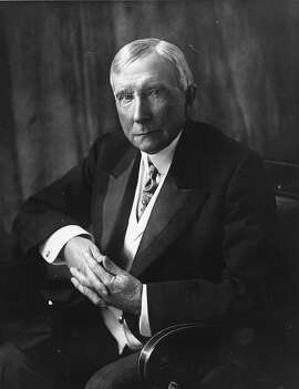 Philanthropist and industrialist John D. Rockefeller, Sr., is photographed in New York in 1932. A family spokesman says the pilot of a small plane who died moments after taking off from a Westchester County airport was Richard Rockfeller, great grandson of Standard Oil co-founder John D. Rockefeller.