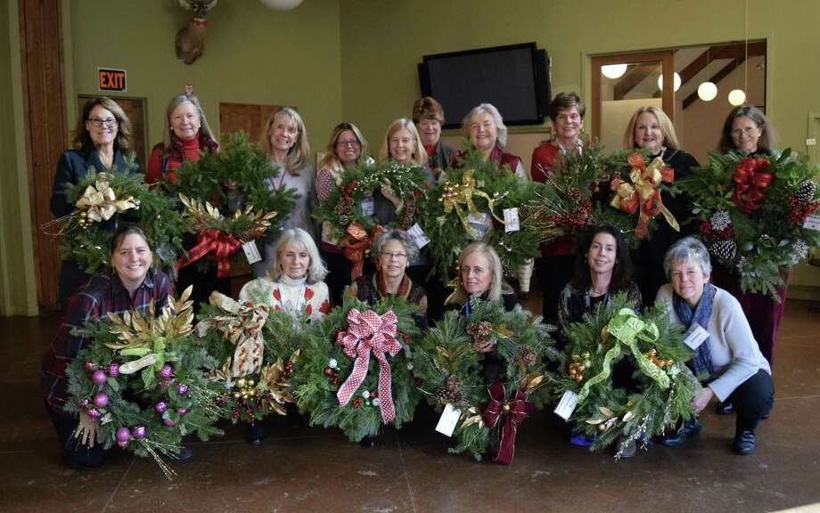 Members of the Green's Farms Garden Club recently continued their tradition of creating wreaths to donate to community and nonprofit organizations in Westport, Fairfield and Norwalk. Photo: Contributed Photo