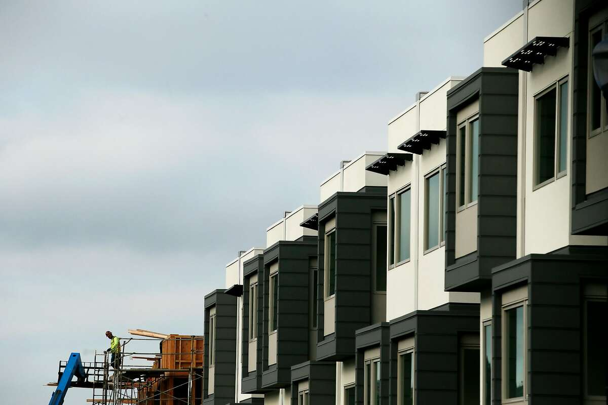 The Hunter's Point Shipyard housing along Hudson Avenue at Friedell Street on Wednesday, Dec. 19, 2018, in San Francisco, Calif.