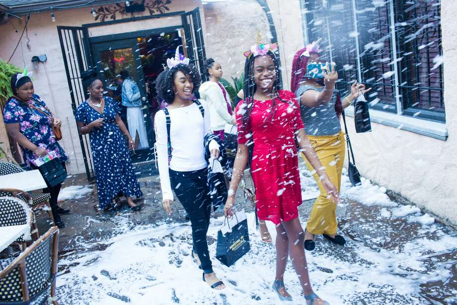 Ice Express provided a winter wonderland for the girls.  Photo: RM Photography