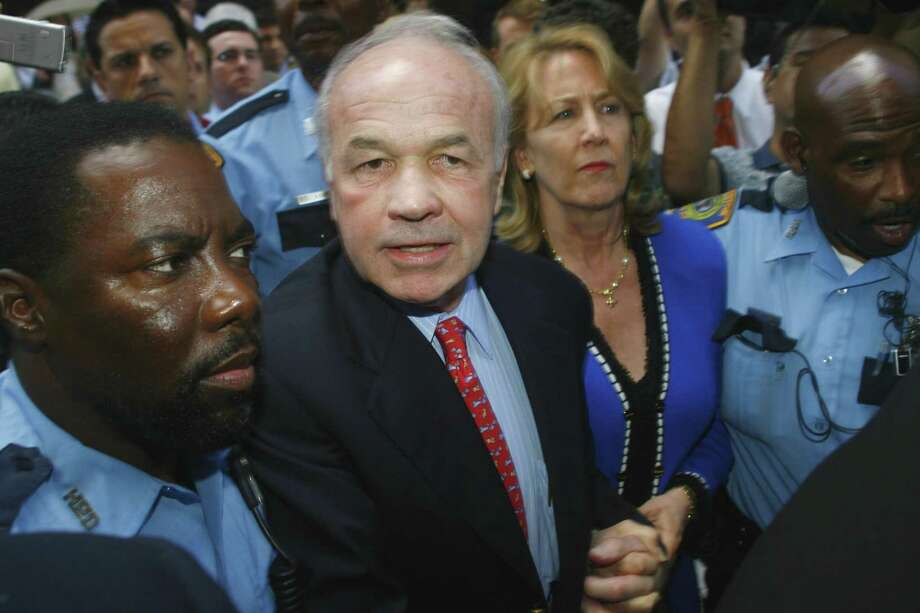 Former Enron Chairman Kenneth Lay, second from left, leaves the courthouse with his wife, Linda Lay, May 25, 2006, following his conviction in Houston. The so-called Enron scandal produced the Sarbanes-Oxley Act of 2002, some of whose protections are now being threatened. Photo: STEVE UECKERT /AP / HOUSTON CHRONICLE