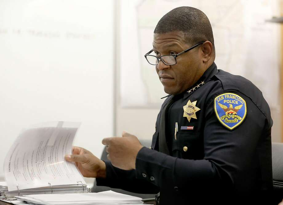 San Francisco police chief Bill Scott discusses end of the year crime statistics at the SFPD headquarters on Thursday, Dec. 13, 2018, in San Francisco, Calif. Photo: Liz Hafalia / The Chronicle 2018