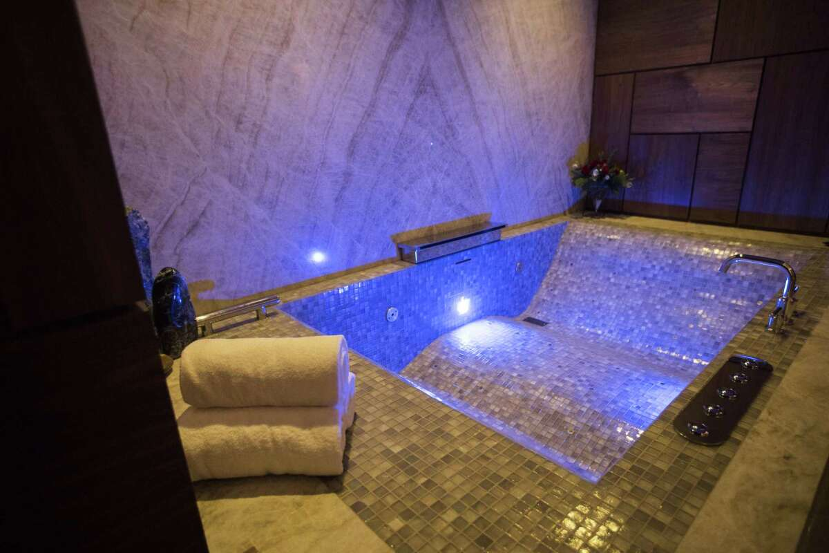 Therapeutic tub in a treatment room at The Spa at The Post Oak Hotel. >>>See all of the places Tilman Fertitta owns.