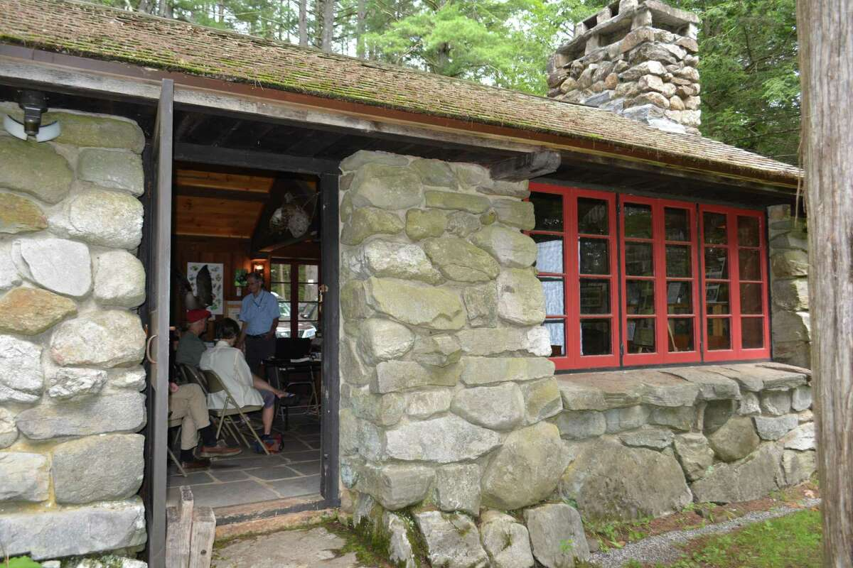 """A """"Why We Love Lichens"""" workshop held at the historic Peoples State Forest Nature Museum."""