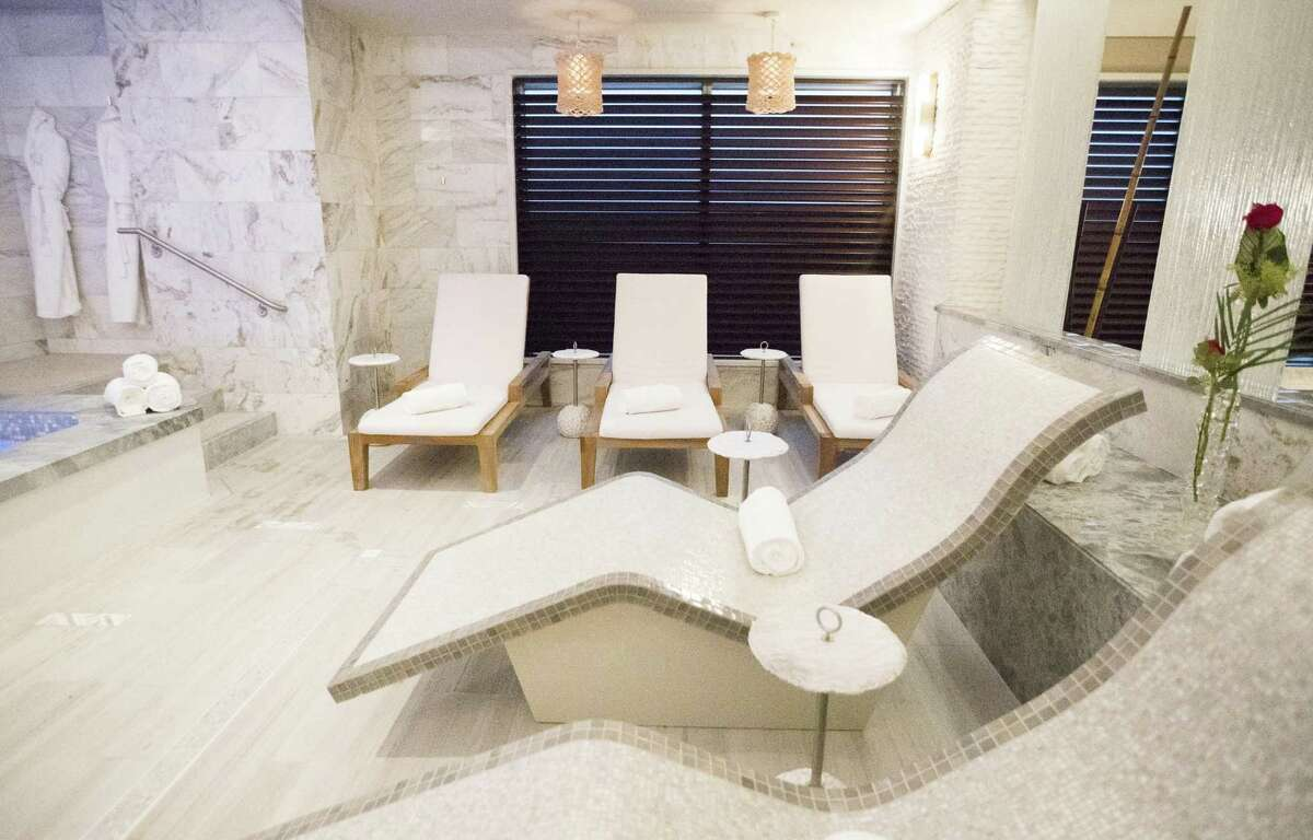 Body-contouring, hot-stoned daybeds are a great way to unwind at The Spa at the Post Oak Hotel.