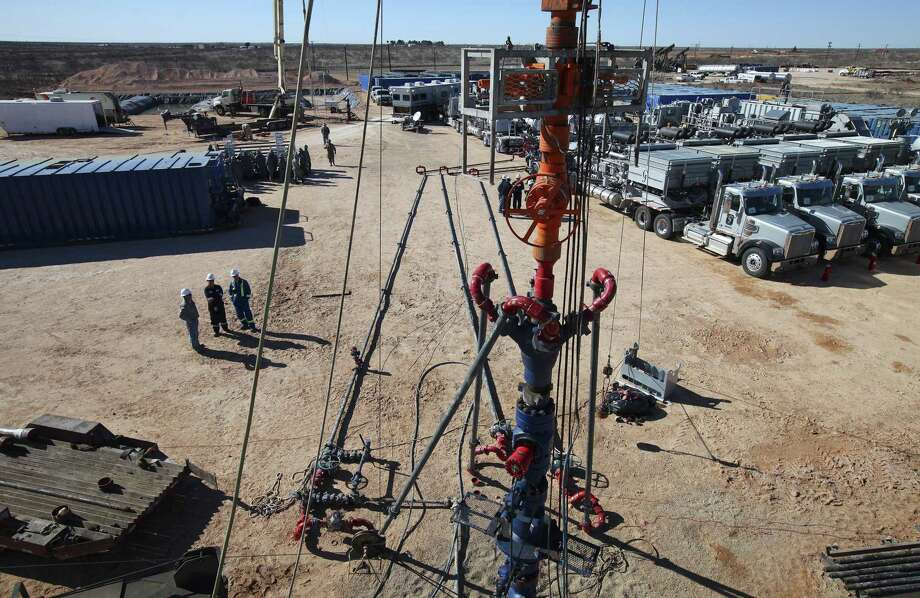 A well is drilled at an Apache Energy site in the Permian Basin in Midland. Photo: JIM WILSON, STF / New York Times / NYTNS