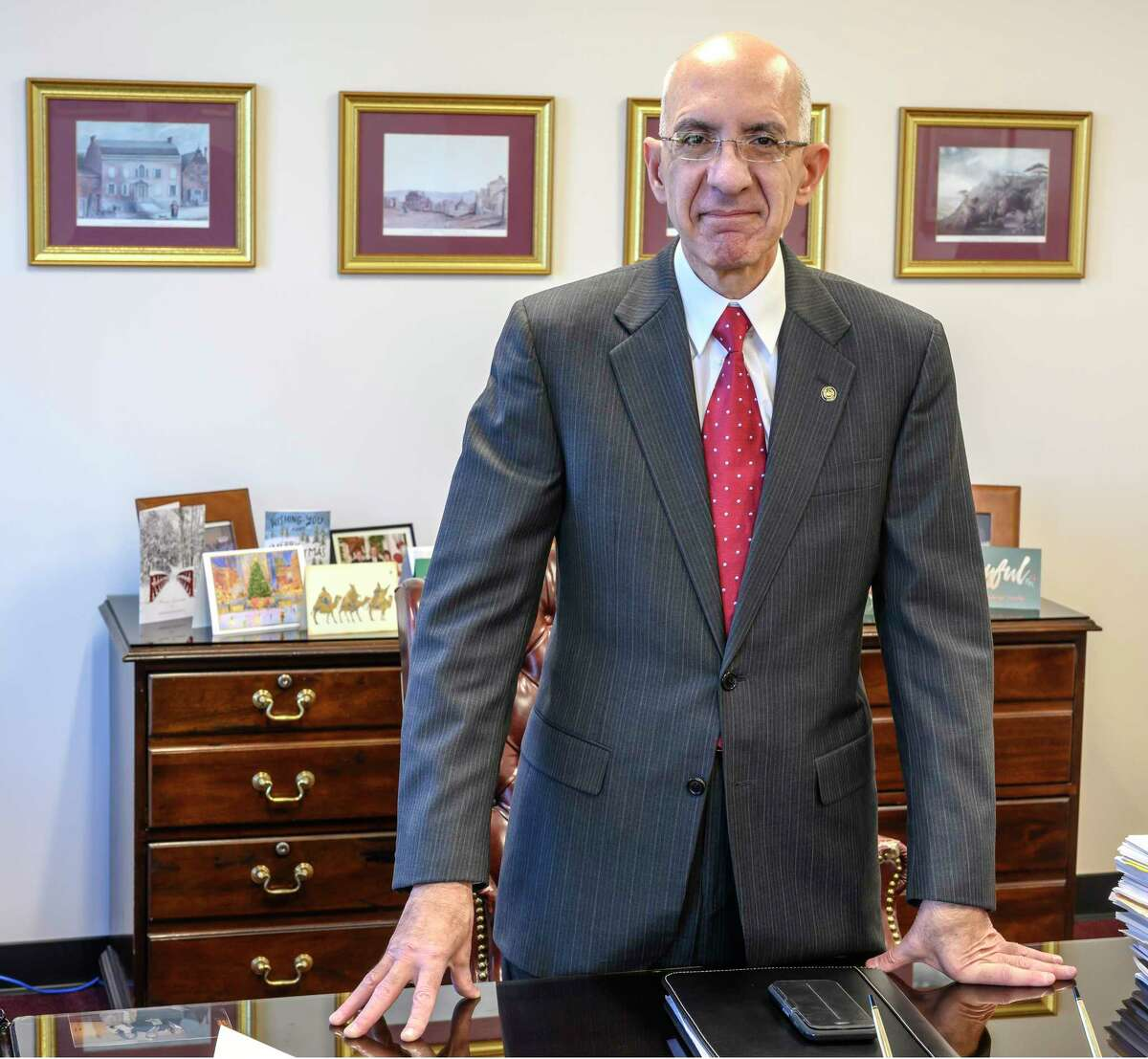 Phil Calderone in his office Tuesday Dec. 18, 2018 in Albany, N.Y. (Skip Dickstein/Times Union)