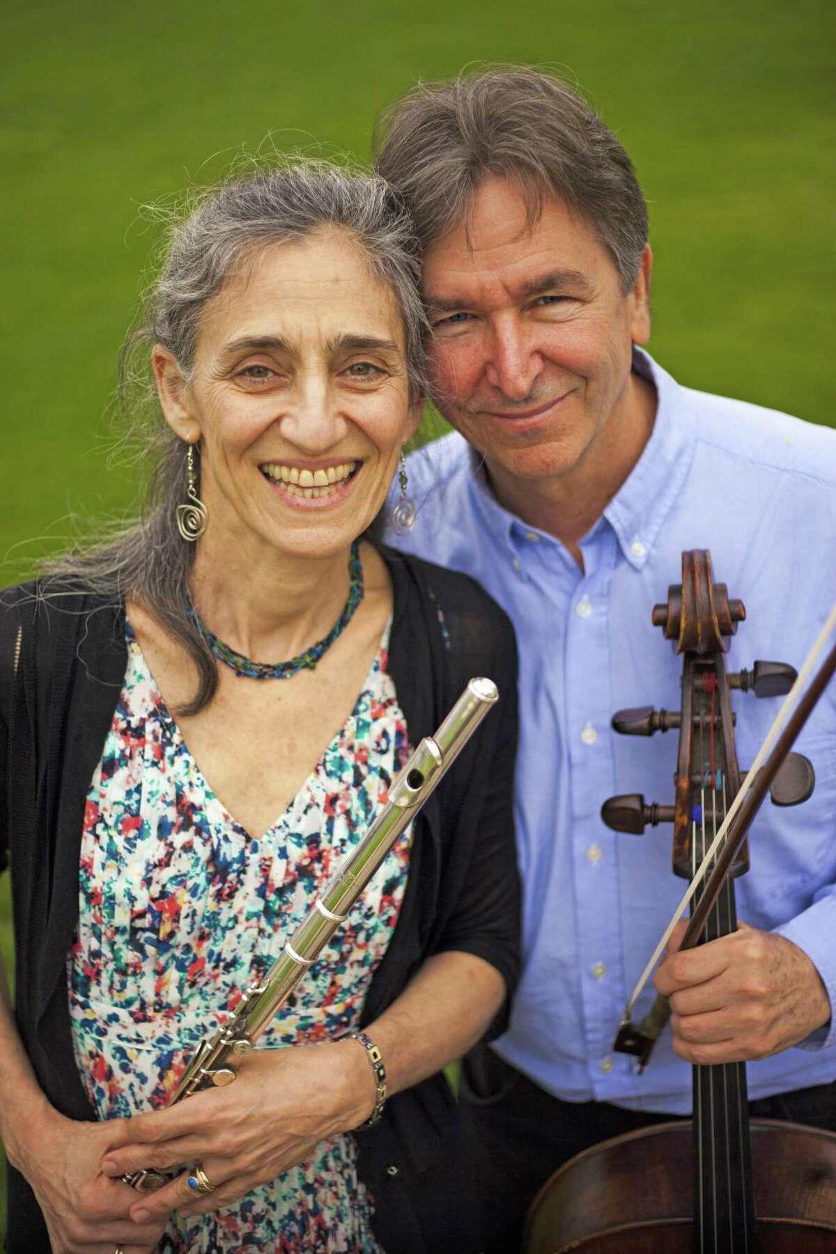 Susan Rotholz, flutist, and Eliot Bailen, cellist, founders of the Sherman Chamber Ensemble.