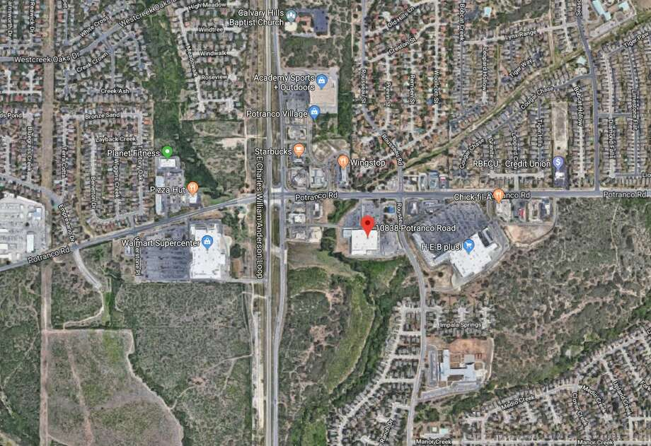 Maps show the area where an 80-year-old woman became pinned after she was struck by a vehicle in front of a shopping area Friday, Dec. 21, 2018. Photo: Google Maps