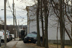 A SWAT team entered a First Street house after a shots-fired report.