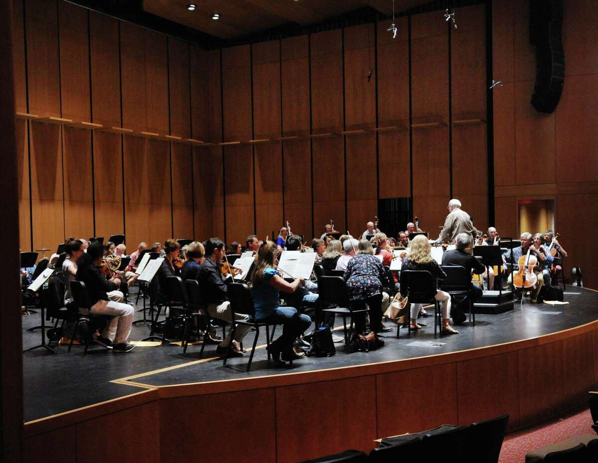 The Greenwich Symphony Orchestra rehearsal at the Greenwich High School Performing Arts Center in Greenwich, Conn., Thursday evening, Sept. 28, 2017. The GSO will be performing at the Greenwich High School PAC on Saturday. Sept. 30, at 8 p.m. and on Sunday, Oct. 1, at 4 p.m.