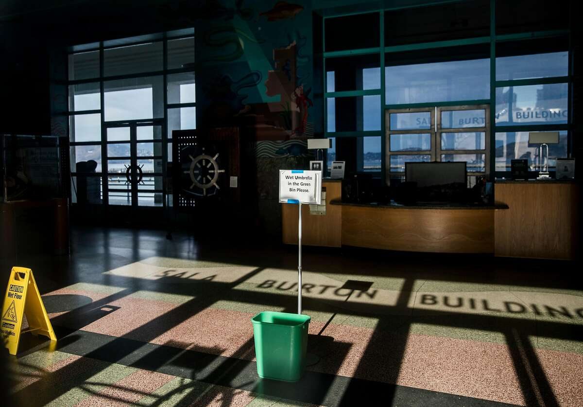 The Maritime Museum at the San Francisco Maritime National Park is seen closed as the result of a partial government shutdown in San Francisco, Calif. Saturday, Dec. 22, 2018.