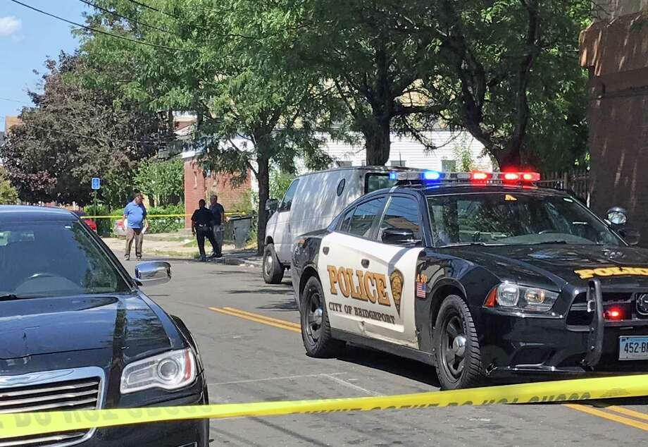Bridgeport police responded to Sixth Street, between Stratford and Connecticut avenues, for reports of gunshots around 11 a.m. on Thursday, Aug. 24, 2017, police spokesman Av Harris said. Photo: Tara O'Neill / Hearst Connecticut Media / Connecticut Post