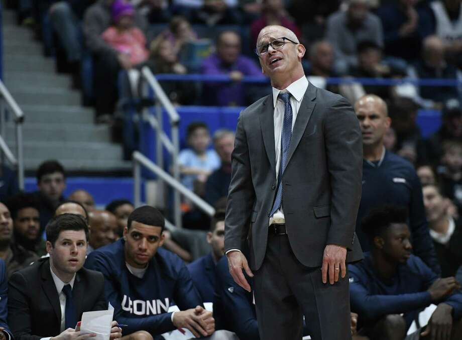 "UConn head coach Dan Hurley says that the Huskies have to avoid that ""here we go again"" moment like Saturday's stinging loss to Villanova. Photo: Jessica Hill / Associated Press / Copyright 2018 The Associated Press. All rights reserved"
