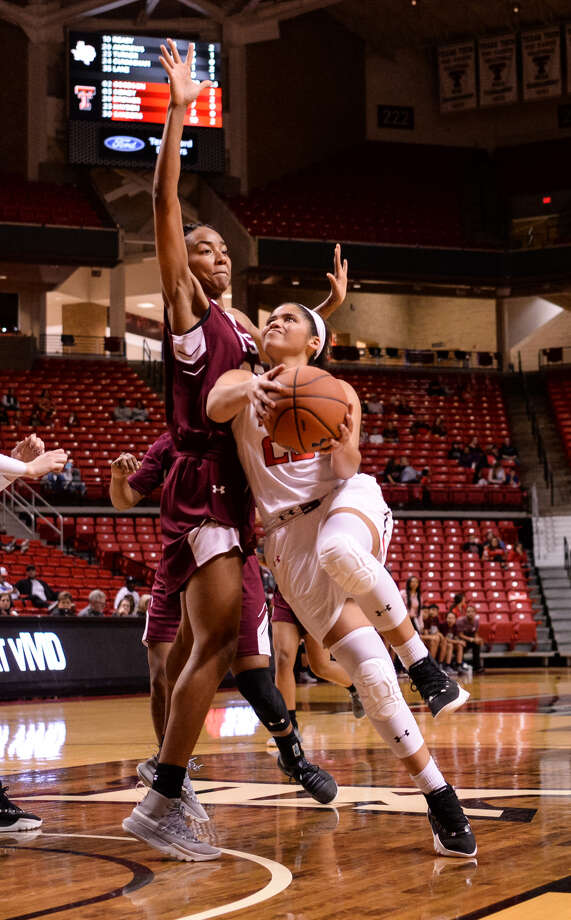 Texas Tech sophomore guard Angel Hayden goes up for a shot against Texas Southern on Saturday at United Supermarkets Arena in Lubbock. The Lady Raiders picked up their eighth win of the season against the Lady Tigers, 75-55. Photo: Courtesy Photo