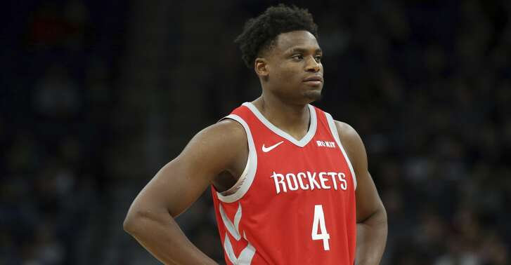 Houston Rockets' Danuel House Jr. plays against the Minnesota Timberwolves in an NBA basketball game Monday, Dec. 3, 2018, in Minneapolis. (AP Photo/Jim Mone)