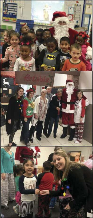 Christmas is all about the children; and members of the Conroe Noon Lions Club at a wonderful time at their adopted school of Reaves Elementary last week handing out Christmas goodies with Santa.