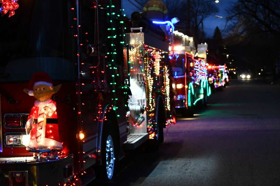 "Saturday, Dec 22, join the Winsted Fire Department for the spectacular 14th Annual ""Gator"" Christmas Parade. This unique parade id dedicated to pat WFD member Gaeton ""Gator"" Gangi. Members of the WFD and community organizations come together to decorate emergency apparatus and vehicles with lights and other holiday decorations. The excitement builds as the parade moves along a pre-determined route through town to spread holiday cheer. Parade line-up will begin at 5pm. on Meadow Street. Check their FB page for the exact route. Photo: Lara Green- Kazlauskas/ Hearst Media"