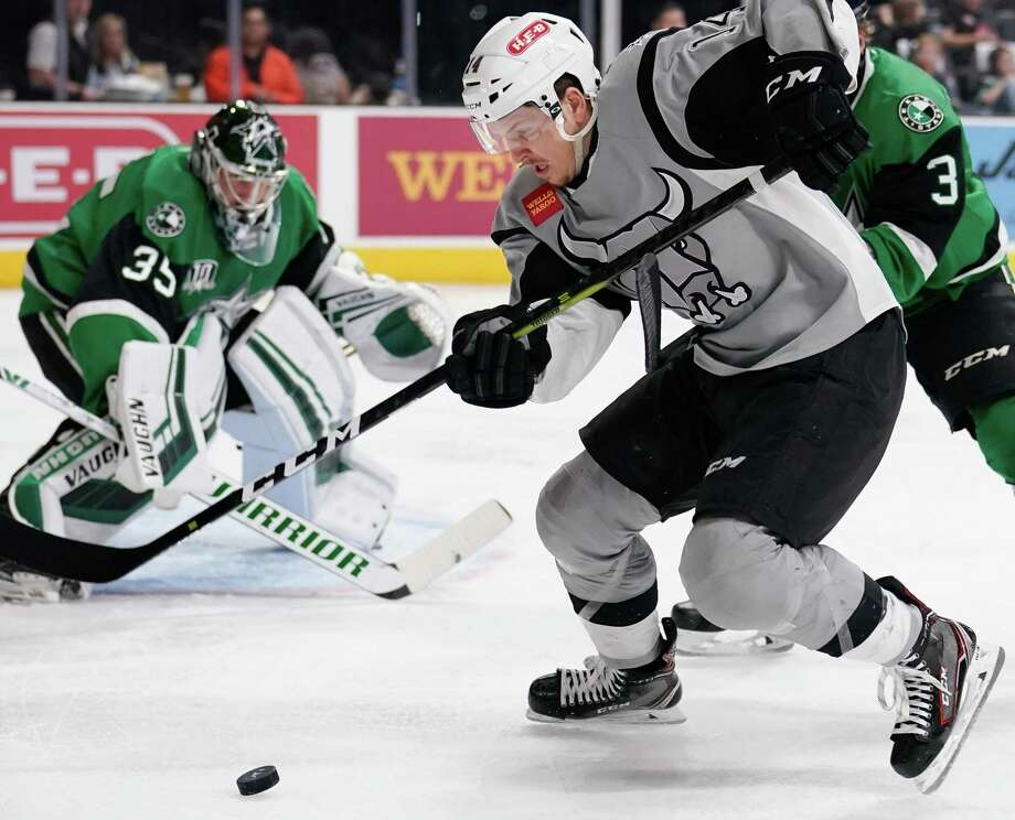 The Texas Stars play the San Antonio Rampage during the second period of an AHL hockey game, Saturday, Dec. 22, 2018, at the AT&T Center in San Antonio, Texas. (Darren Abate/AHL) Photo: Darren Abate, FRE / Darren Abate/AHL / Darren Abate Media, LLC/AHL/San Antonio Rampage